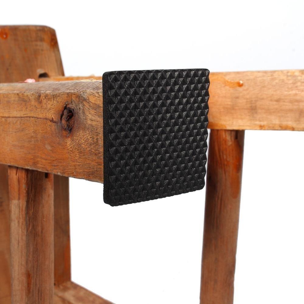 ... 12pcs Non Slip Self Adhesive Floor Protectors Furniture Sofa TableChair  Rubber Feet Pads(Black ...