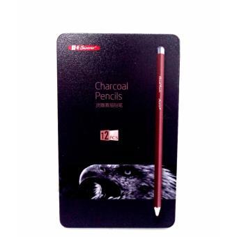 12pcs Superior Charcoal Pencils Hard, Medium, Soft - 2