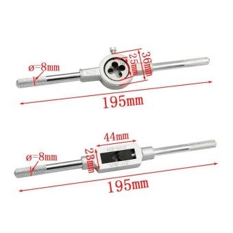 12Pcs/Set Metric Adjustable Taps Dies Wrench Handle Tap And Die KitM3-M12 Screws - intl - 4