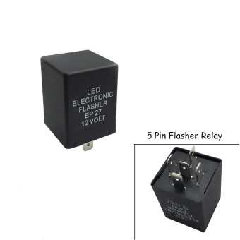 12V 5 Pin LED Flasher Relay Fix for Automobile Automotive Car LED Turn Signal Bulb Out Hyper Flash Problem for Ford Lincoln - intl Price Philippines