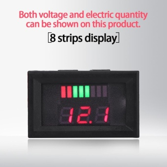 12V Acid Lead Batteries Indicator Battery Capacity Voltage MeterDual Display LED Tester Red - intl Price Philippines