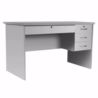 1302 Office Table with 4 Drawers and Lock (Gray)