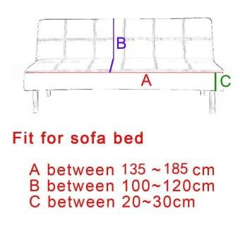 135-185cm Soild Color Elastic Foldable Sofa bed Cover No Handrail Sofa Slipcovers - intl - 2
