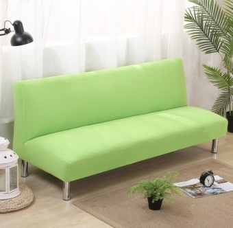 135-185cm Soild Color Elastic Foldable Sofa bed Cover No HandrailSofa Slipcovers - intl