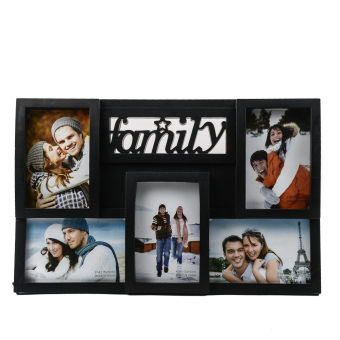 "15 x 11"" Family with 5 Pieces Combination of Square and RectangularPhoto Collage (Black) Price Philippines"