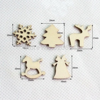 150pcs 20mm Plain Natural Wood Hanging Ornaments DIY Wooden CraftsChristmas Decoration by LuckyG - intl - 4