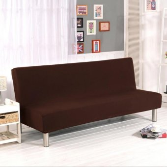 155-195cm Elasticity Folding No Handrail Slipcover #Coffee sofa cover(not including pillow) - intl