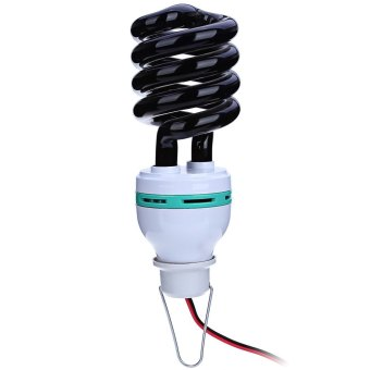 1.5M DC12V 40W Charger Lead Spiral Energy Saving Black Light Lamp with UV Traps Insects