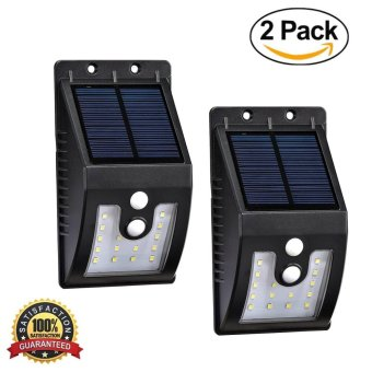 16 LED Outdoor Motion Sensor Solar Lights, Waterproof Wireless Bright Motion Sensor Solar Security Lights (2 Pack) - intl