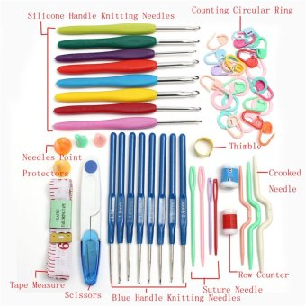 16 sizes Crochet hooks Needles Stitches knitting Craft Case crochet set - 3