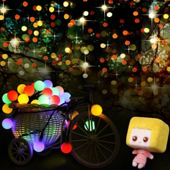 16FT 30 Led Ball Solar fairy light garden garland christmas decorLed string light 5m solar powered outdoor lamp RGB white - intl