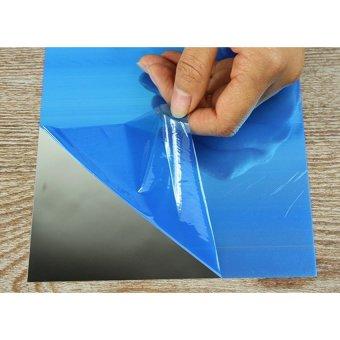 16pcs 15cmx15cm DIY Decorative Mirrors Self-adhesive Tiles MirrorWall Stickers Mirror Decor - 4