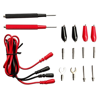 16pcs/1Set Multifunction Digital Multimeter Probe Test Leads CableCord Alligator Clip Test Kit