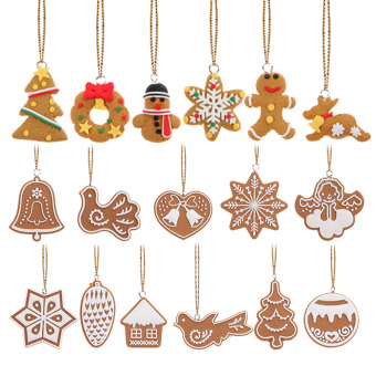 17Pcs Animal Snowflake Biscuits CHRISTMAS Hand Made Polymer Clay