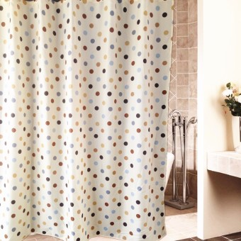 180cm anti-mildew waterproof polyester fabric shower curtain