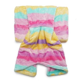 180cm Flannel Wave Point Stripe Mermaid Tail Blanket Home OfficeCrylic Warm Soft Sleep Bag - intl Price Philippines