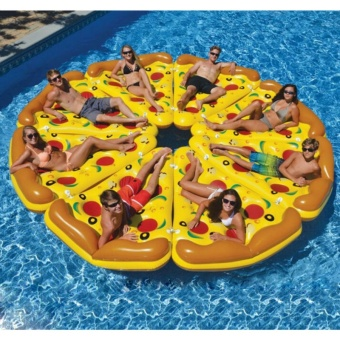 180cm Inflatable Giant Pizza Water Pool Float Floating Fun Toys For Swimming Summer Party Island Raft Lounger Toy Pontoon - intl