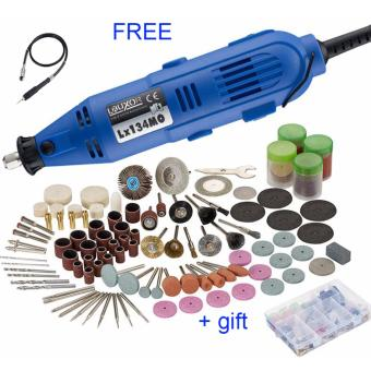 180W Electric Drill Grinder with 6 Position Variable Speed Rotary Tools Mini Grinding Machine+gift - intl