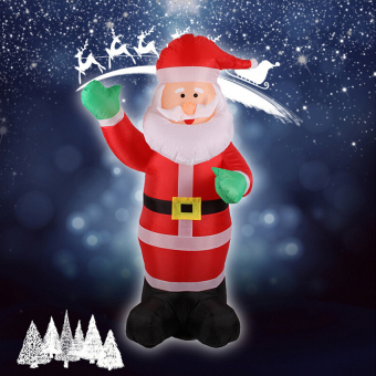 1.8M Inflatable Waving Hand Father Christmas Inflatable SantaClauscute Xmas Decoration 5.9Ft Outdoor Inflatable Statues - intl - 3
