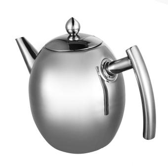 1L Stainless Steel Teapot Coffee Pot Water Kettle With Filter - intl - 2