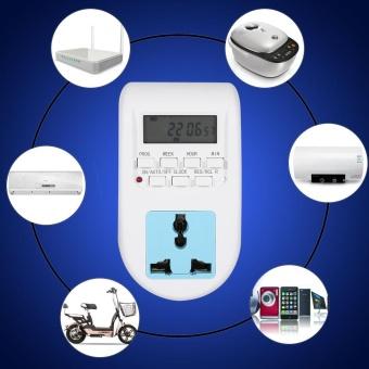 1Pc 220V Multi-functional LCD Digital Timer Socket Timing OutletSwitch EU Plug New - intl - 2