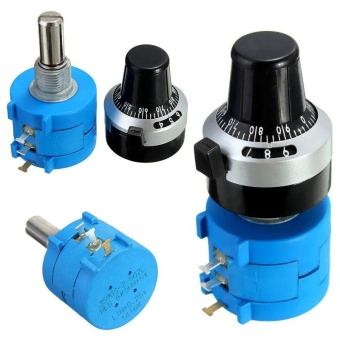 1PC 5K Ohm 3590S-2-502L Potentiometer With 10 Turn Counting DialRotary Knob - intl