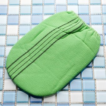 1pc glove bath towel / Body Scrub Exfoliating Mitten Comfort FitMade in Korea - intl - 3
