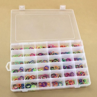 1PC Plastic Case 36 Slots Adjustable Storage Box Home Organizer forEarrings - intl