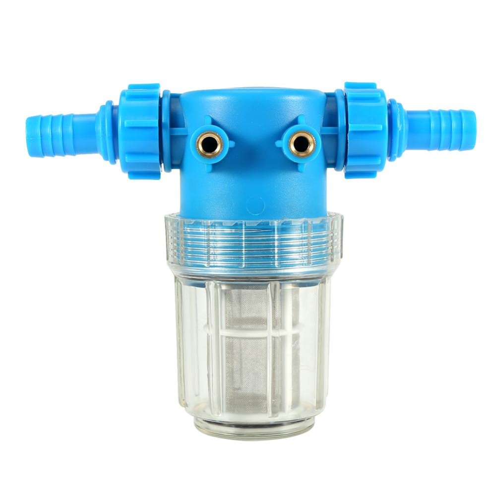 1pc Pressure Washer Universal In Line Water Filter 20mm Inlet Outlet Hose Connector Car Washing