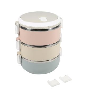 1Pc Stainless Steel 3 layers Lunch Box Food Container Set - intl
