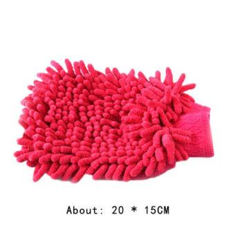1Pc Super Mitt Microfiber Fiber Car Glove Cleaning Cloth Towel WashDry Tool - intl - 3