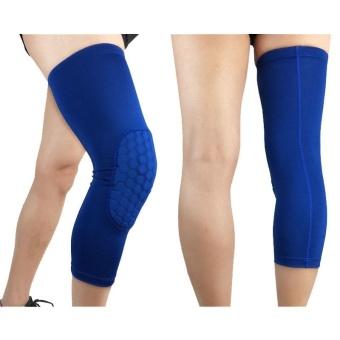1pcs Basketball Leg Sleeve Breathable Football Knee Pads Sport Safety Honeycomb Kneepads Bumper Knee Protector Size M - intl - 2