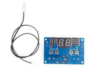 1pcs DC12V thermostat Intelligent digital thermostat temperature controller With NTC sensor W1401 led display - intl - 4