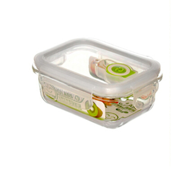 1PCS High Quality Tempered Glass Food Container Transparent FoodStorage Container Box - 1050ML - intl - 4