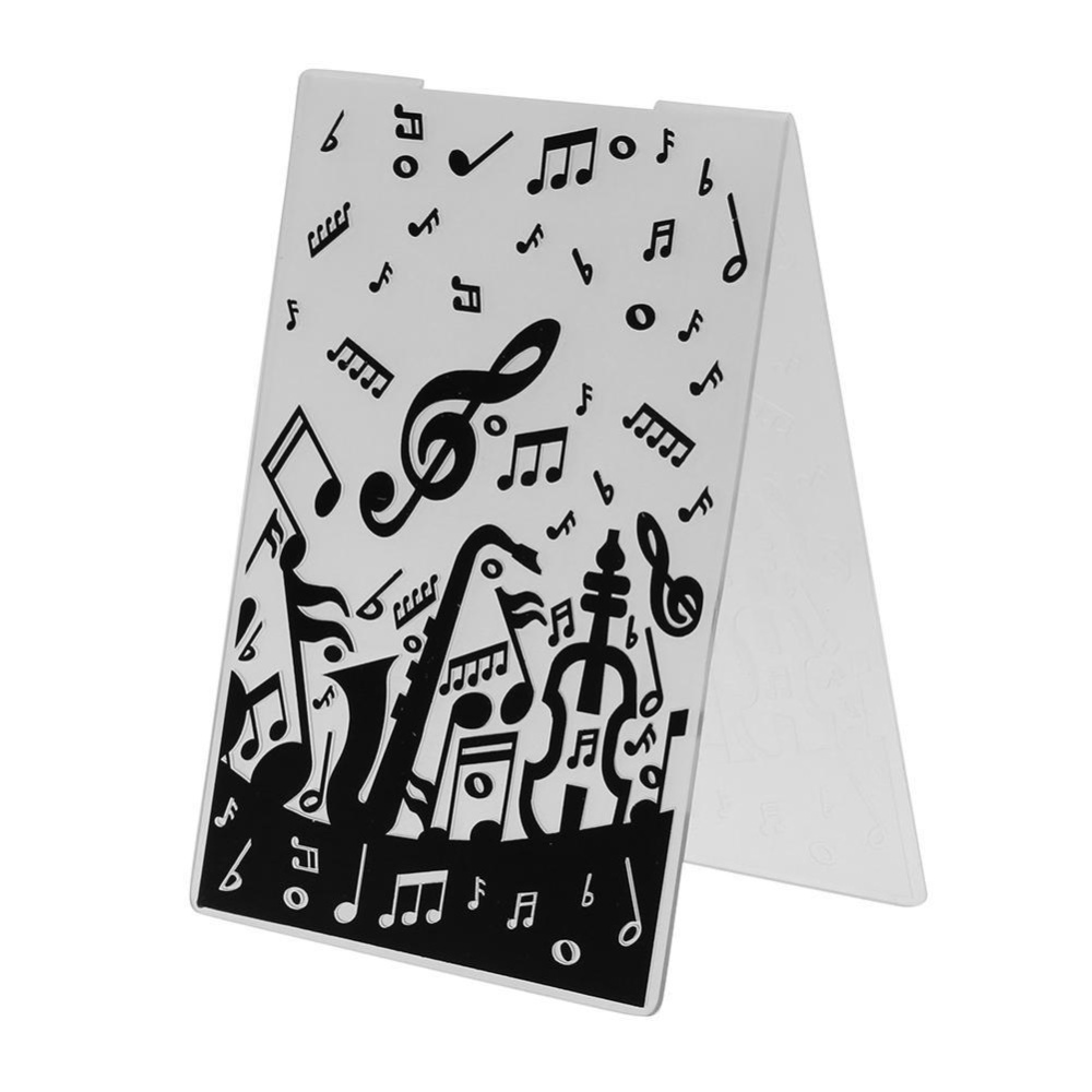 Philippines   1pcs Musical Note Plastic Embossing Folder Template ...
