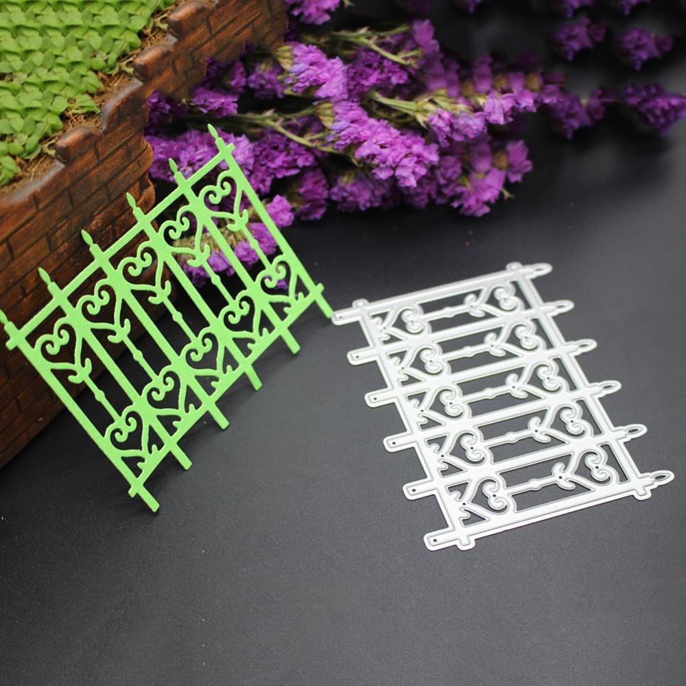 1Pcs Silver Fence Door Metal Die Cutting Dies Stencil DIY ScrapbookEmbossing Craft - intl ...