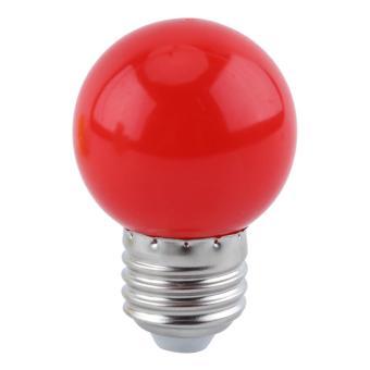 1W E27 LED Ball Light Bulb Lamp Home Party Shop Bar Decor Red -intl