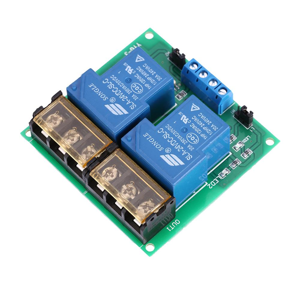 2 Channel Relay Board Philippines Dc 24v 30a Module Optocoupler Isolation High Low Trigger