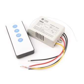 2 Channels 220V ON/OFF Wireless Digital Remote Control Switch for Lamp & Light YB007-SZ+