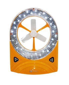2 in 1 Rechargeable LED lantern with Fan 5560 (White/Yellow)