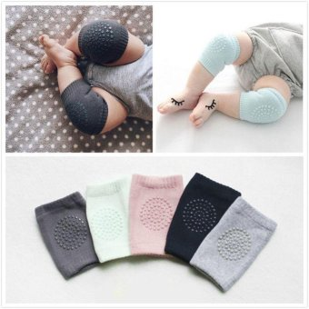 2* Kid Baby Knee Pads Protector Cotton Infants Safety CrawlingElbow Leg Cushion - intl