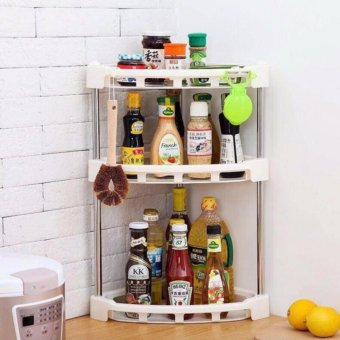 2 Layer Kitchen Rack Organizer 088-1 (White)