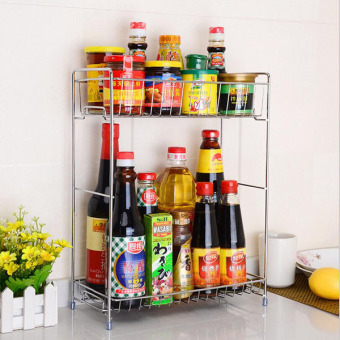 2 Layers Multi-functional Stainless Steel Spice Rack Dish RacksKitchen Storage Holders Racks Space Saver for Kitchen StorageOrganizer 31.5x16.5x40.5cm - intl Price Philippines
