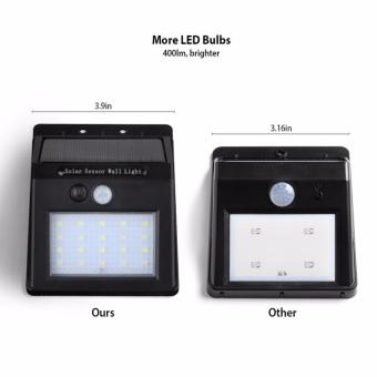 2 Pack 20 LED Solar Motion Light, Outdoor Sensor Security LED light For Garden, Pathway, Deck Stair, 400 Lumens Super Bright, Waterproof, Intelligent Two Sensing Modes - intl - 4