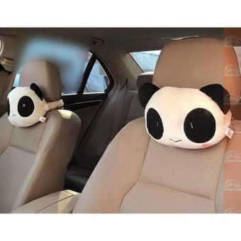 2 Panda Plush Car Pillow Pillow - intl Price Philippines
