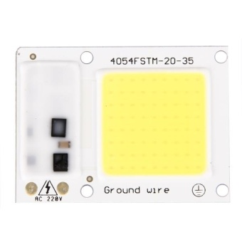 2 PCS 30W 2800-6000K High Power Brightness COB Chips LED LightBeads, AC 220V (White Light) - intl - 2