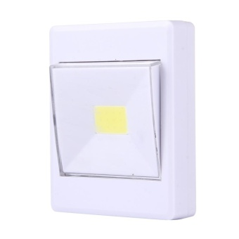 2 PCS Mini White Light COB LED Switch Wall Light Night Light LampCloset Light - intl - 2