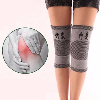 2 Piece Knee Protector Autumn and Winter Elasticity Breathable KneePads Relief Prevent Arthritis Knee Guard Sports Knee Support - intl