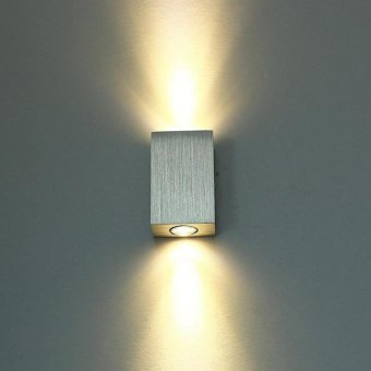 2 W Aluminum LED Light Wall Lamp For Party Home Decor color:Warm White - intl