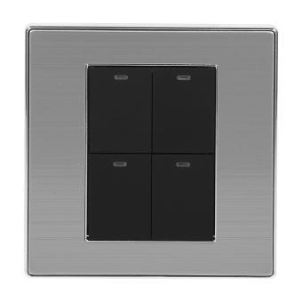2 Way Modern Type Electrical Push Buttons Wall Light Switch (4Gang) - intl - 2